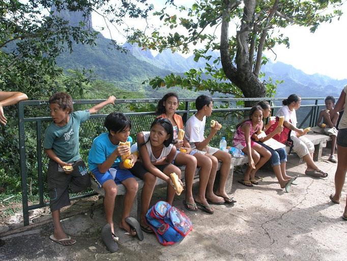 Niños de excursión