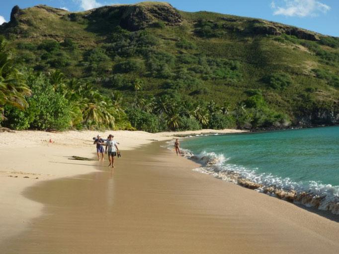 La playa de arena blanca