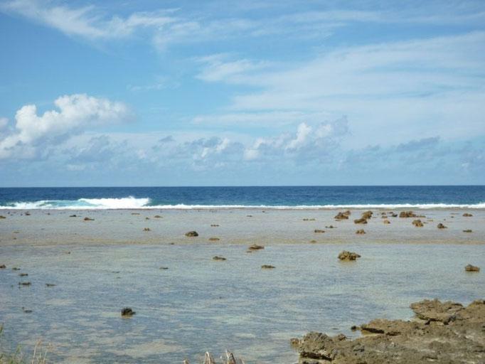 La separación del atolón al océano