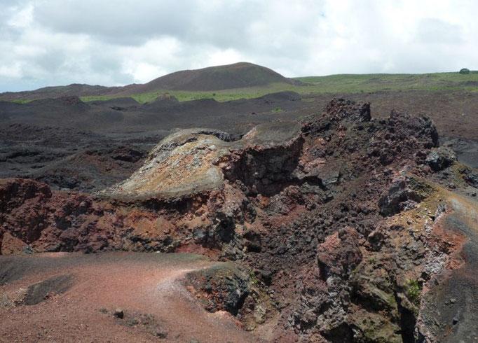 Se puede apreciar los diferentes colores según la última erosión sufrida en la zona