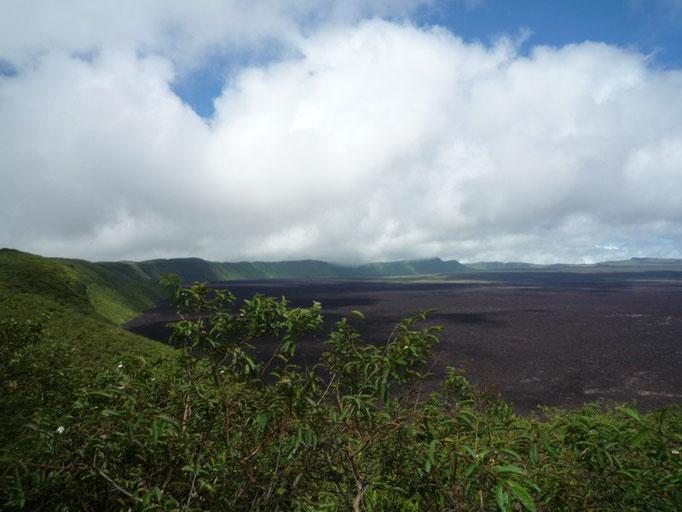 El cráter del volcán Sierra Negra
