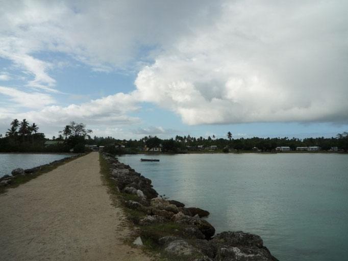 El dique del pueblo