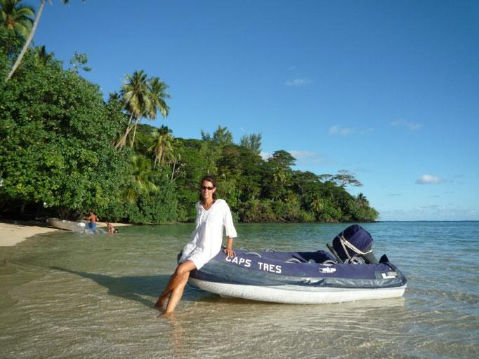 El capsito en las arenas de la espectacular playa