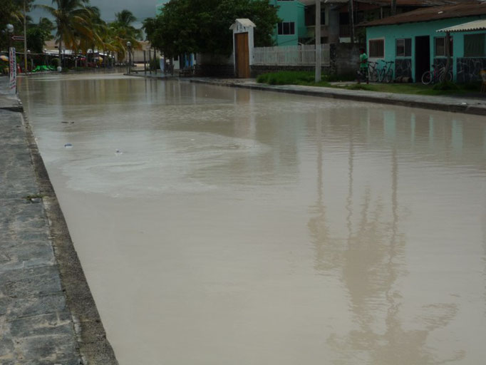 El pueblo inundado por las fuertes lluvias