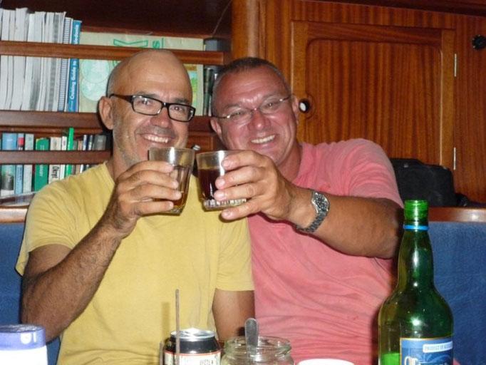 Jose y Miro en el Ulysses