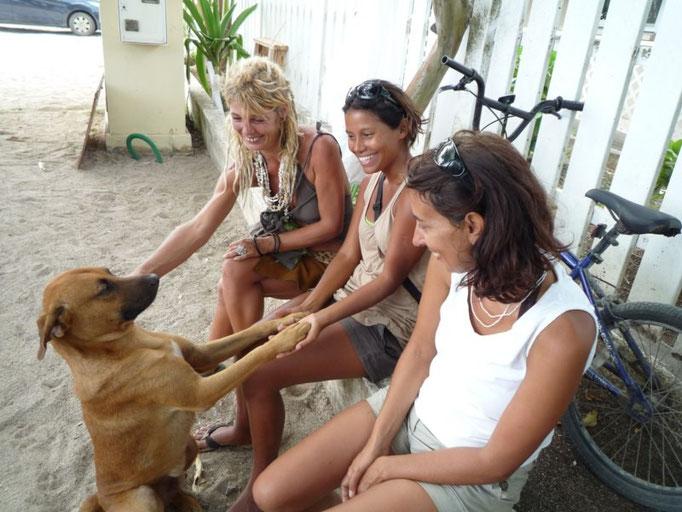 Con Pitina, Zule y nuestro amigo Bori