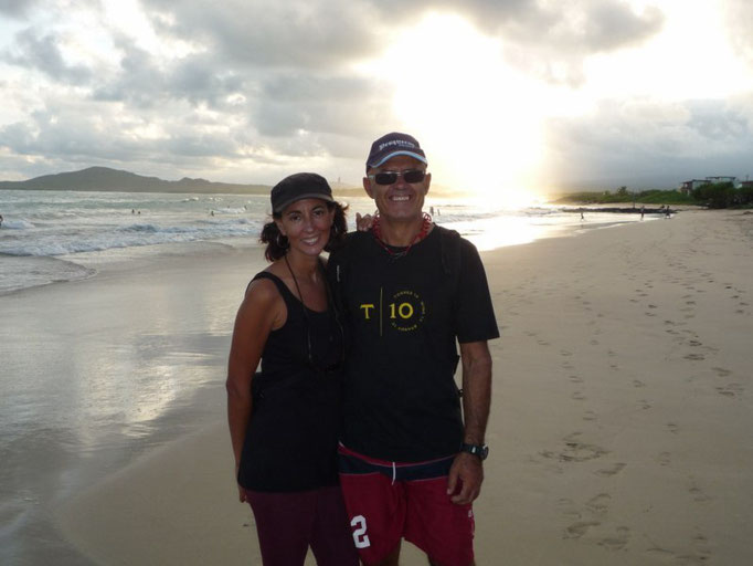 Atardecer en Galápagos, qué maravilla