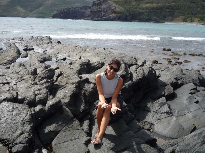 Buscando conchas bonitas
