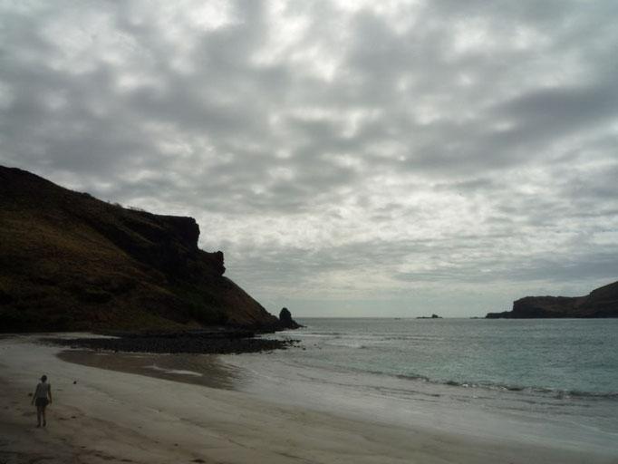 Las playas suelen ser de arena negra