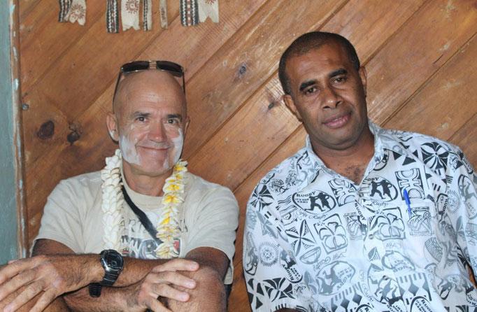 Jose y George, el maestro