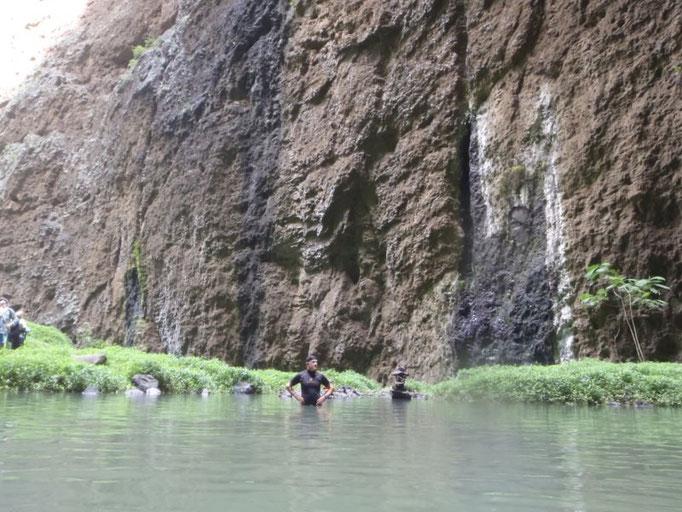 Hay que nadar para ver la cascada
