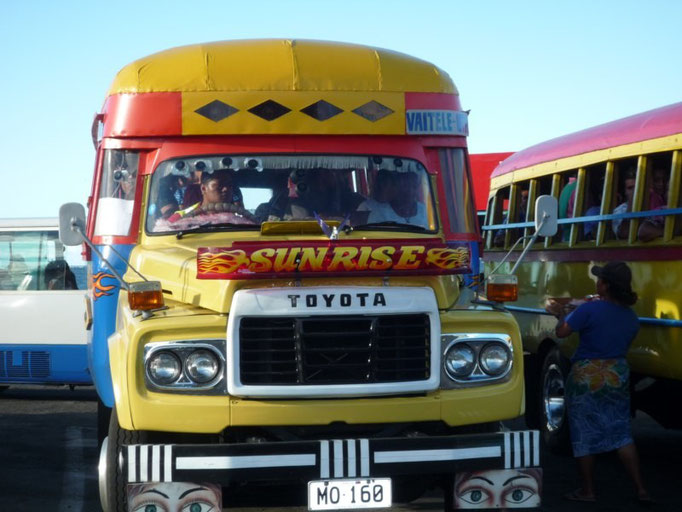 Los autobuses de Samoa