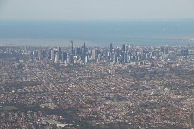 Melbourne desde el avión