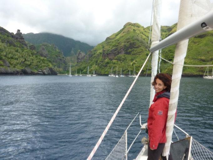 La capitana después de su primera gran travesía oceánica