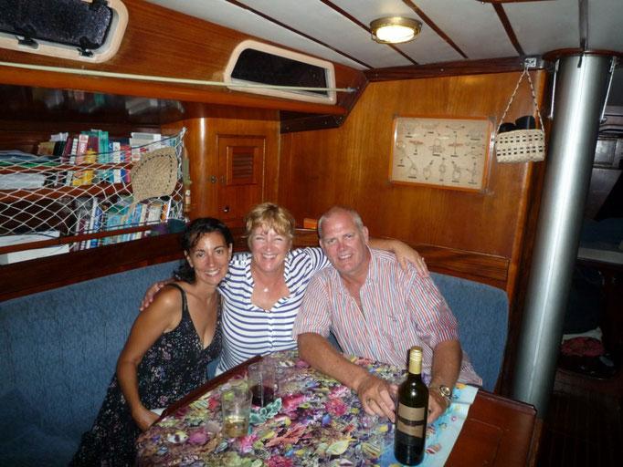Con los entrañables Joe y Cheryl, del Communiqué