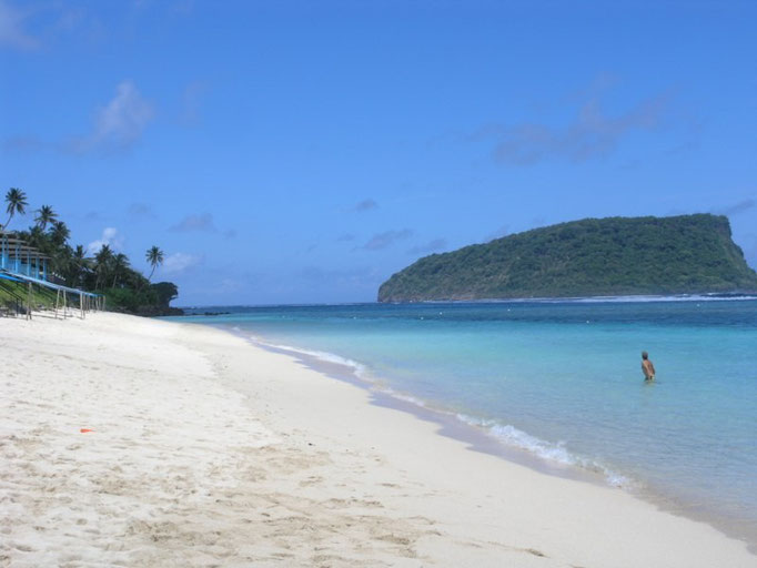 Playa al sur de la isla