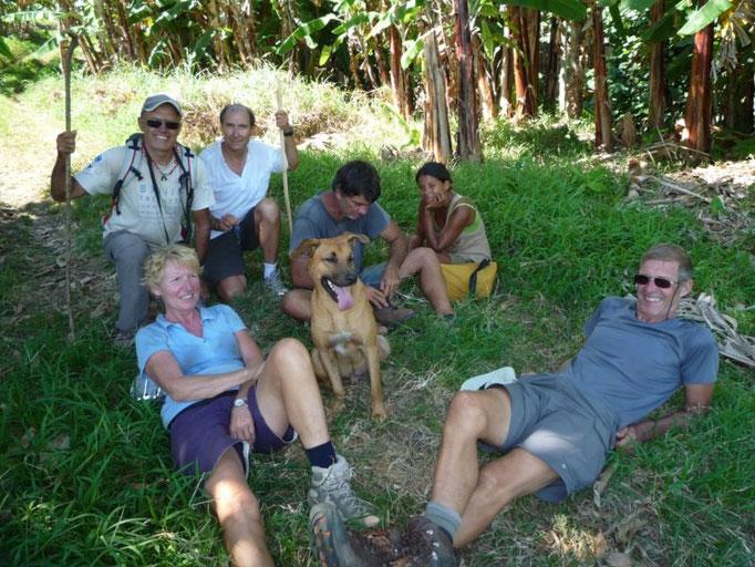 El grupo que subimos a la montaña con nuestro guía Bori