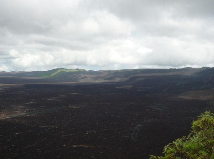 El lado del cráter que esrosionó en el 2005
