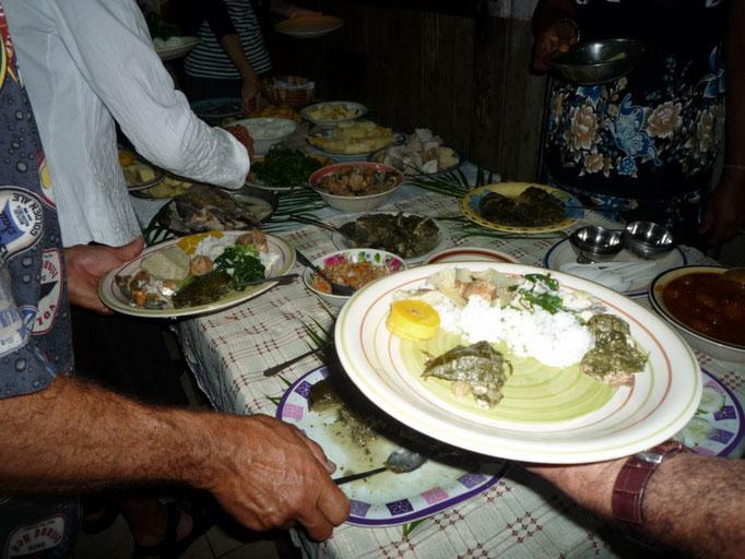Cena en Waitui Marina