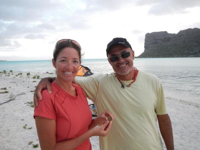 tardes en la playa viendo a los kitesurfers; con Karin