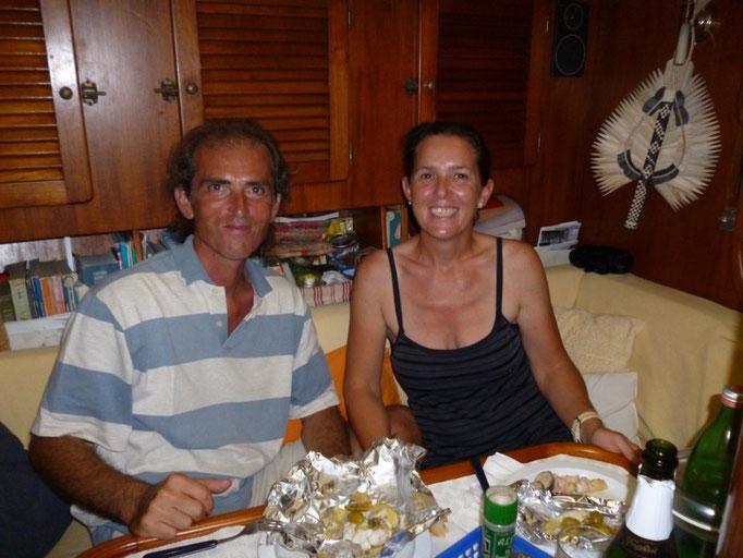 Alberto y Sabrina, armadores del Gioel