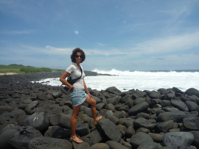 Playa rocosa deLa lobería