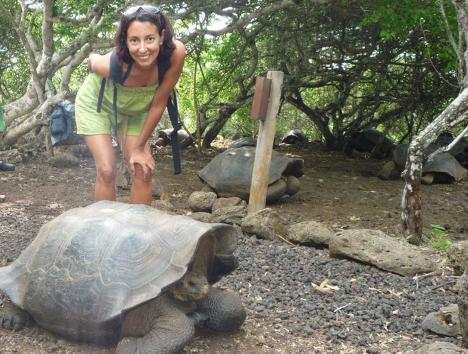 Nuestro primer contacto con las galápagos