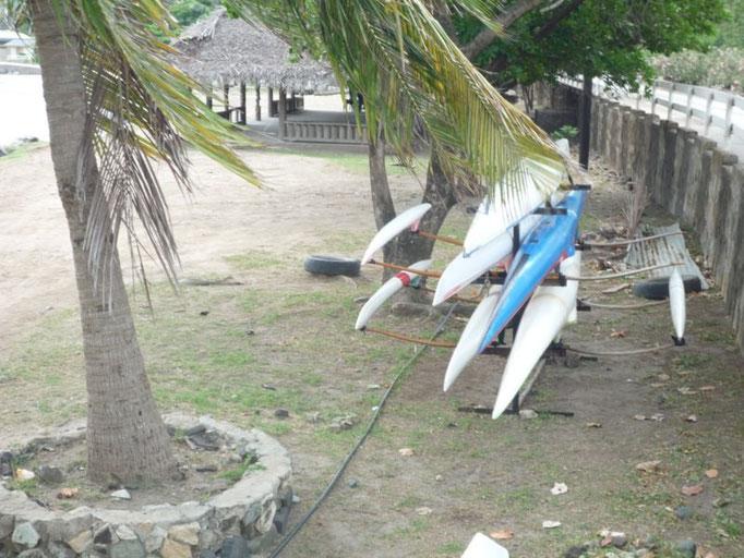 La práctica de remo es muy habitual en todas las Marquesas