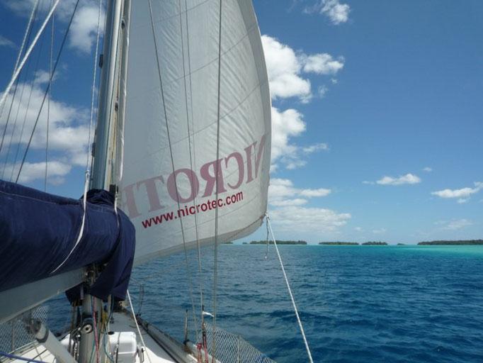 Navegando a la francesa en el lagoon