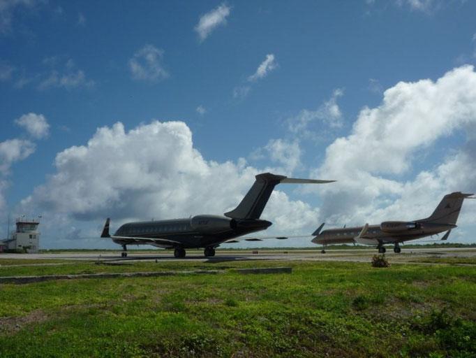 Aviones privados del dueño de varios casinos de Las Vegas