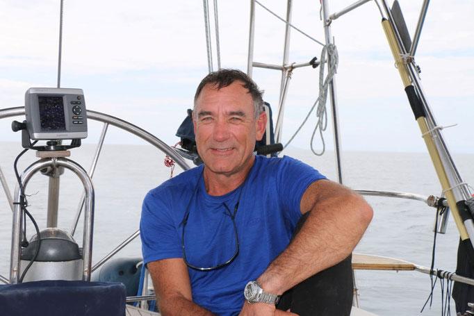 Dave, amigo tripulante en la navegación a New Zealand