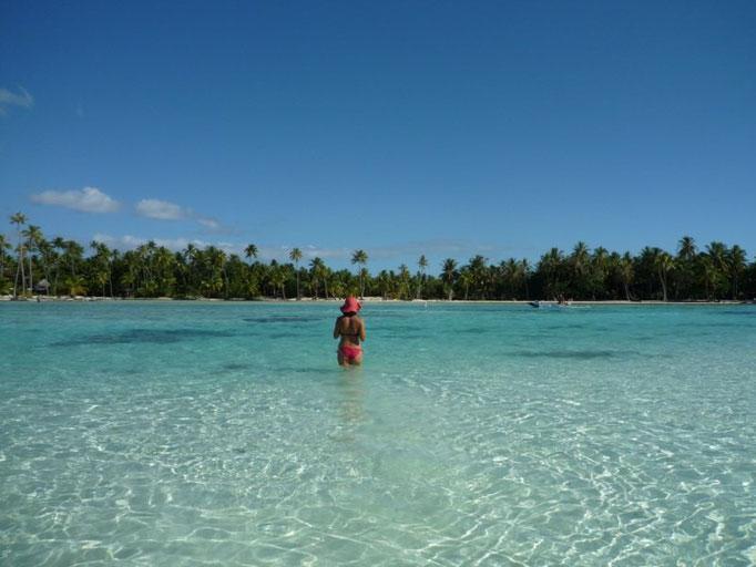 Es una delicia caminar por estas aguas increíbles