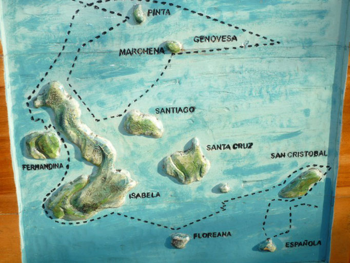 El recorrido que Darwin hizo en su visita a las islas en 1835