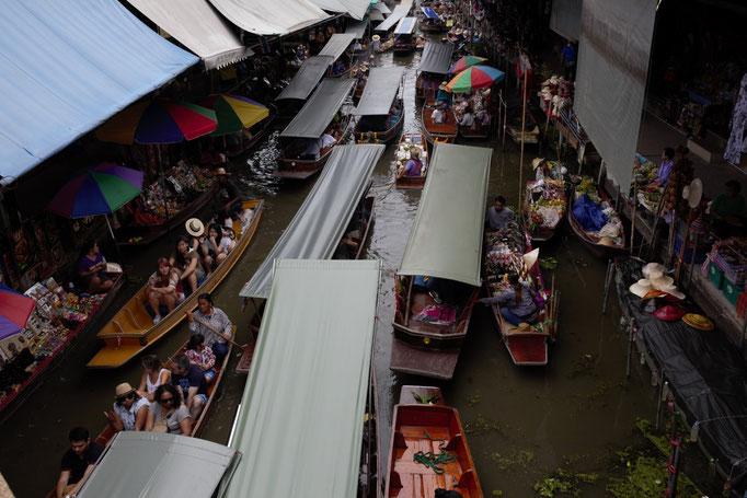 Mercado flotante Damnoen Saduak, Bangkok