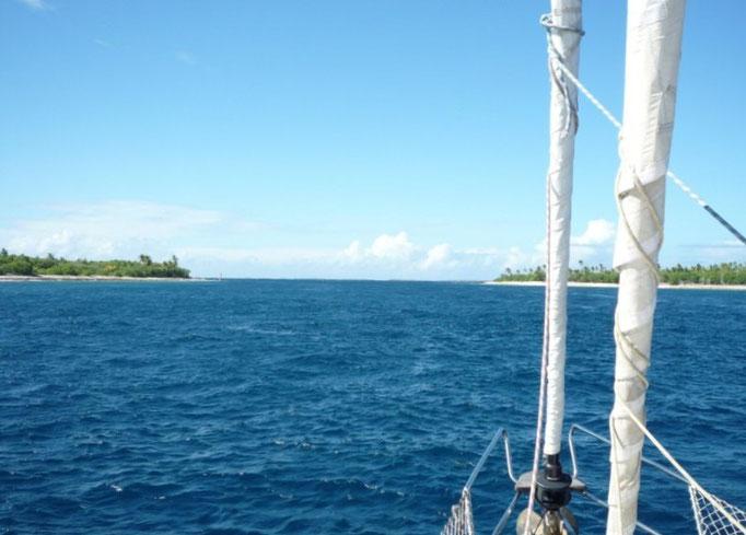 La entrada al atolón