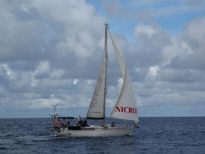 navegación Bora-Bora a Maupiti