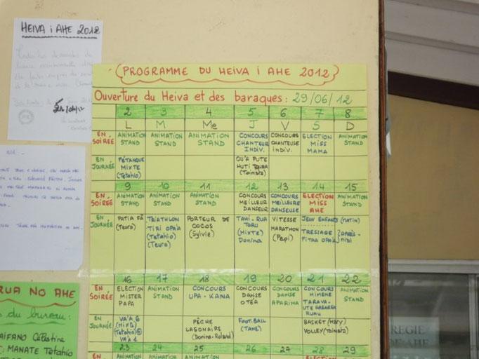 Programa de fiestas de Ahe