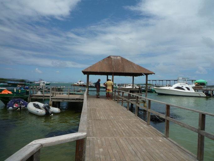 El muelle de Puerto Villamil
