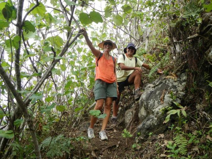 Karin y Jose en el descenso