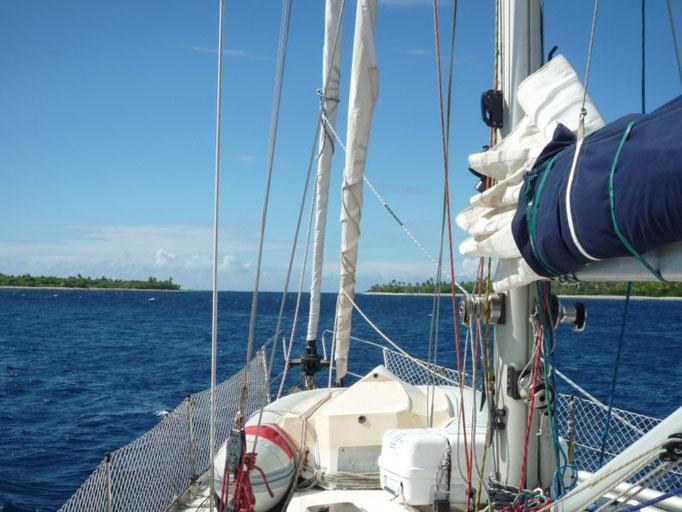 Nos acercamos a ver el estado del paso al atolón