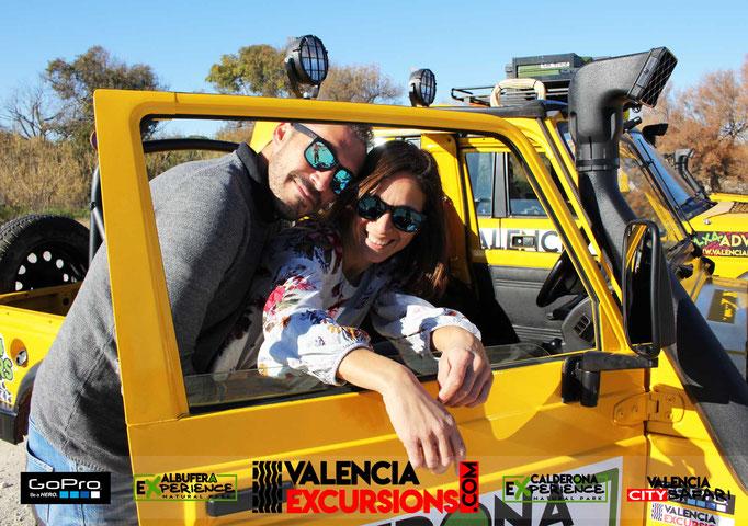 Excursiones y tours para parejas e Valencia. Albufera experience tour 4x4 conducido por tí mismo. Paseos en Barca por la Albufera incluido