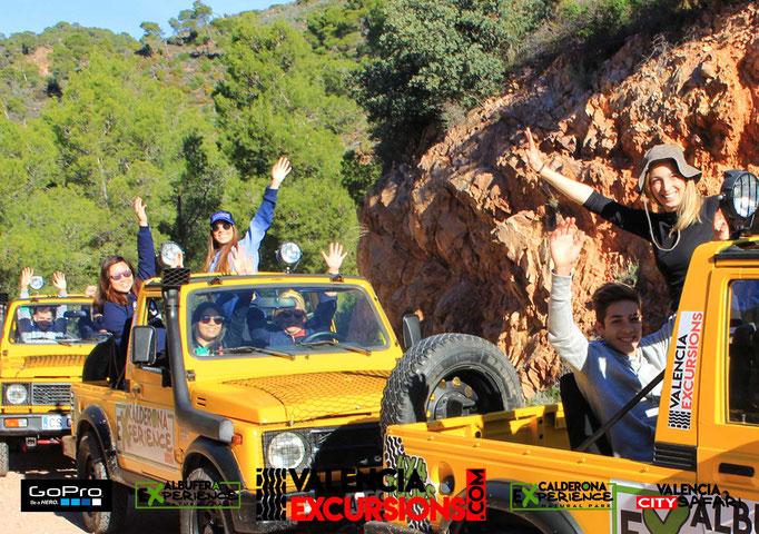 Aventura offroad en la Sierra Calderona de Valencia. Actividad Todoterreno cruzando el parque Natural de Valencia