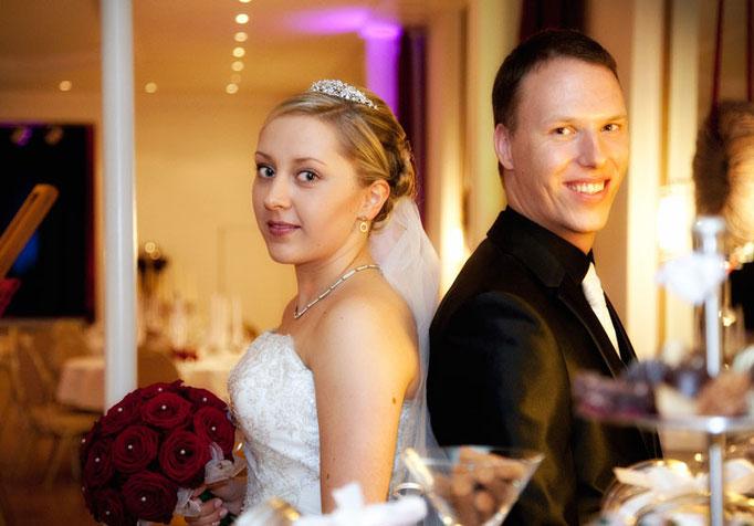 Hochzeitsfoto vom münsteraner Brautpaar
