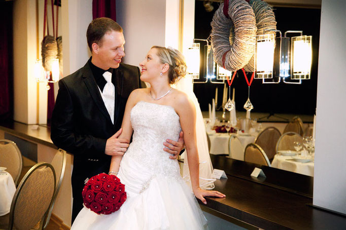 münsteraner Brautpaar beim Hochzeitsshooting
