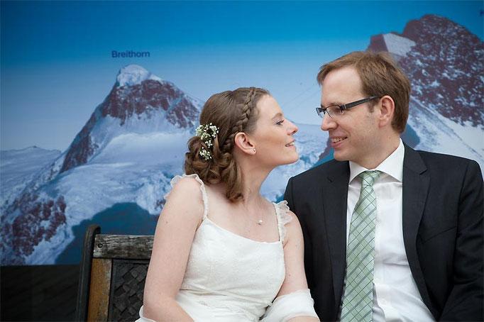 Brautpaar beim Fotoshooting in Münster