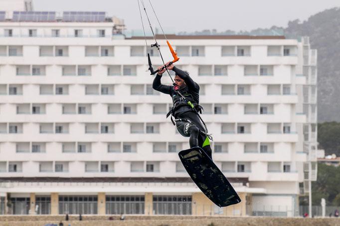 Kitesurfer in Mallorca