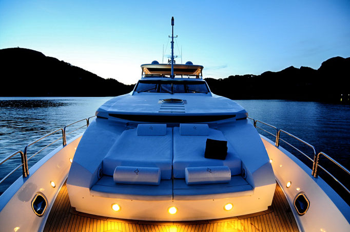 high end luxury yacht shooting
