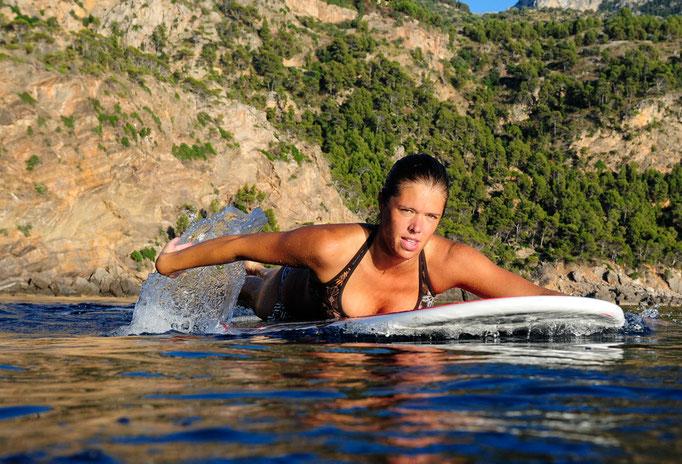 Longboarding girl