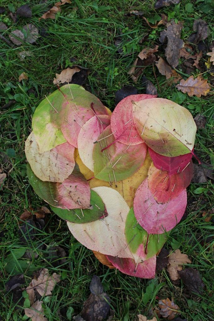 Naturkunst mit Kindern, Blätter