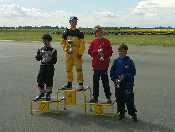 David Anderson vom MSC Land Hadeln sicherte sich den 3. Platz in Klasse 2. Sieger wurde wieder Tom Beier vom Veranstalter MSC Anklam